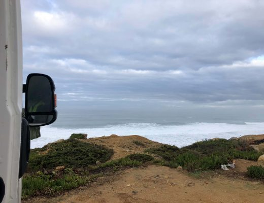 Ericeira by the ocean in the campervan