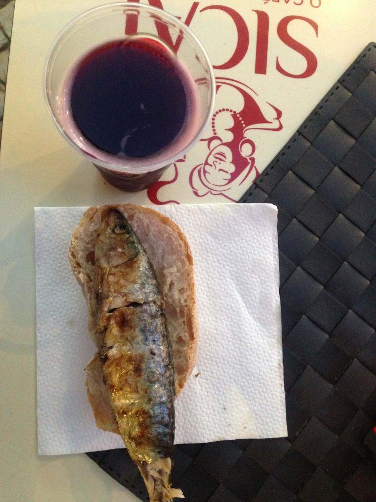 Grilled sadine in Lisbon